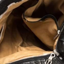 Jimmy Choo Black Pebbled Leather Large Nica Tote