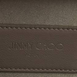 Jimmy Choo Light Lilac Coarse Glitter Celeste Clutch