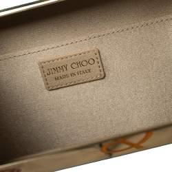 حقيبة كلتش جيمي تشو كايلا جلد لامع أخضر