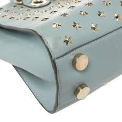 Jimmy Choo Powder Blue Star Studded Leather Riley Tote