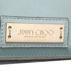 حقيبة يد جيمي تشو ريلي مرصعة نجوم يد علوية جلد أزرق فاتح