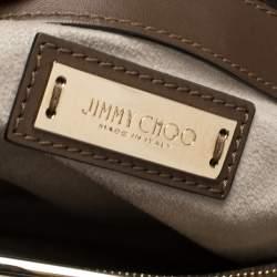 حقيبة يد جيمي تشو الفي جلد بني داكن