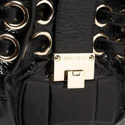 Jimmy Choo Black Patent Leather Ramona Shoulder Bag