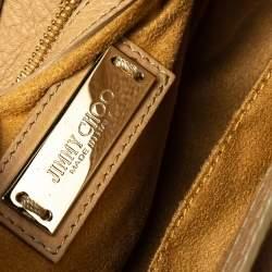Jimmy Choo Beige Leather Rosalie Satchel