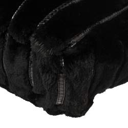 Jimmy Choo Black Mink Fur and Snakeskin Hobo