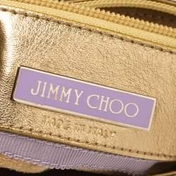 Jimmy Choo Gold/Silver Python Tulita Hobo