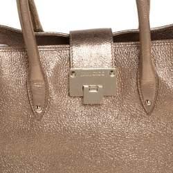 Jimmy Choo Metallic Gold Textured Leather Rania Tote