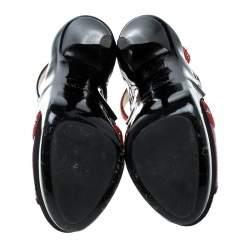 Jimmy Choo Multicolor Embellished Leather And Snakeskin Vivienne Platform Cage Sandals Size 38