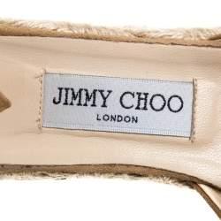 Jimmy Choo Brown  Cut out Suede Embellished Platform Wedges Size 39