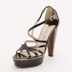 Jimmy Choo Black Platform Sandals Size 37.5