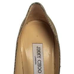 Jimmy Choo Metallic Two Tone Lurex Bridget Pumps Size 39.5