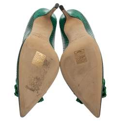 Jimmy Choo Green Snake Skin Emerald Abel Pumps Size 39