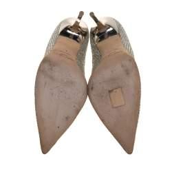 Jimmy Choo Metallic Glitter Abel Pointed Toe Pumps Size 40