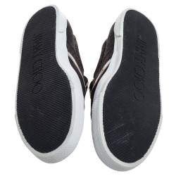 Jimmy Choo Black Lace Demi Slip On Sneakers Size 40