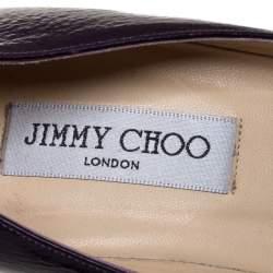 Jimmy Choo Purple Patent Leather Cutout Pumps Size 39