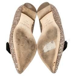 Jimmy Choo Gold Glitter Gala  Flats Size 37