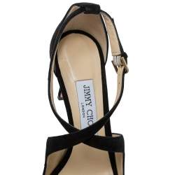 Jimmy Choo Black Suede Emily Sandals Size 37.5