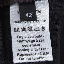 Joseph Slate Grey Stretch Gabardine Finley Regular Fit Trousers L