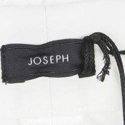 Joseph Off White New Cotton Compact Finley Regular Fit Trousers L