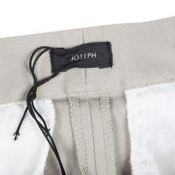 Joseph Almond Beige New Cotton Compact Finley Regular Fit Trousers L