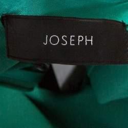Joseph Green Stretch Crepe Dante Midi Dress S