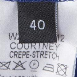 Joseph Cobalt Blue Pleated Lace Detail Courtney Skirt M