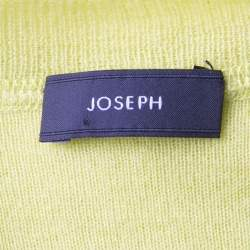 Joseph Lime Green Cashmere Henley Sweater S