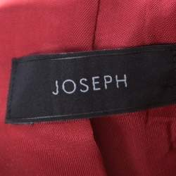 Joseph Maroon Crepe Stretch Laurent Blazer M