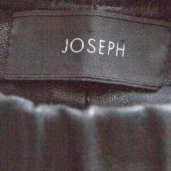 Joseph Black Stretch Leather Elastic Waist Leggings S