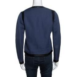 Joseph Bicolor Cotton Leather Trimmed Jacket M
