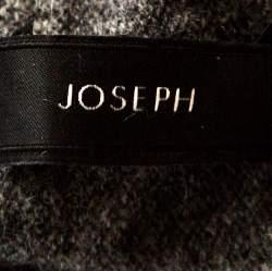 Joseph Grey Cashmere Leather Patch High Neck Tunic Sweater XS