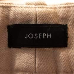 Joseph Ecru Stretch Gabardine Cropped Zoomy Trousers L