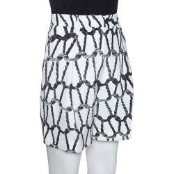 Joseph Monochrome Rope Printed Silk Shorts M