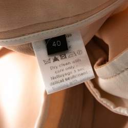 Joseph Pale Pink Matte Silk Chester Wide Leg Trousers M