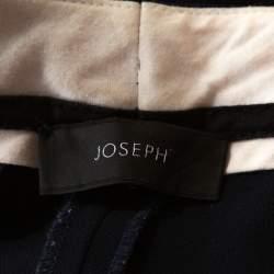 Joseph Navy Blue Stretch Crepe Rocker Straight Leg Pants L