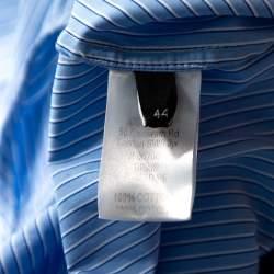 Joseph Blue Pinstripe Cotton Brair Blouse L