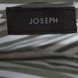 Joseph Sage Green Candy Striped Cotton Arran Wrap Top S