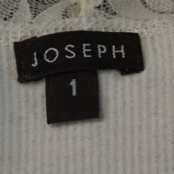 Joseph Monochrome Striped Knit Lace Trim Camisole Top XS