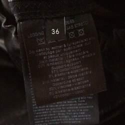 Joseph Black Leather & Stretch Gabardine Leggings S