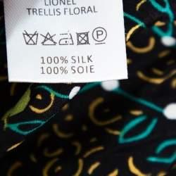 Joseph Multicolor Floral Printed Silk Lionel Trellis Top M
