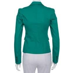 Joseph Green Stretch Cotton Watch Short Blazer S
