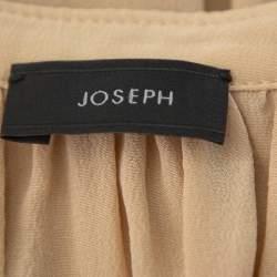 Joseph Beige Silk Oriental Neckline Everett Top M