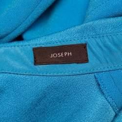 Joseph Blue Crepe Pleated Detail Sleeveless Top S