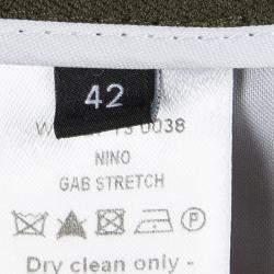 Joseph Olive Green Stretch Denim Boot Cut Pants L