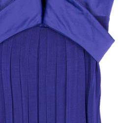 Just Cavalli Purple Empire Waist Dress M