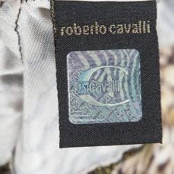 Just Cavalli Brown Animal Printed Knit Top L