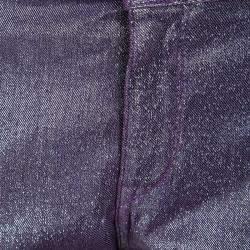 Just Cavalli Purple Lurex Just Chic Jeggings L