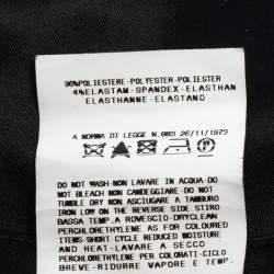 Just Cavalli Black Satin Maxi Skirt M