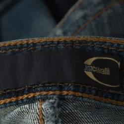 Just Cavalli Indigo Faded Denim Straight Fit Jeans M