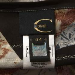 Just Cavalli Multicolor Printed Silk Top M